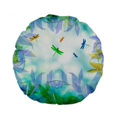 Scrapbooking Tropical Pattern Standard 15  Premium Round Cushions
