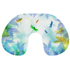 Scrapbooking Tropical Pattern Travel Neck Pillow