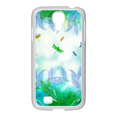 Scrapbooking Tropical Pattern Samsung GALAXY S4 I9500/ I9505 Case (White)