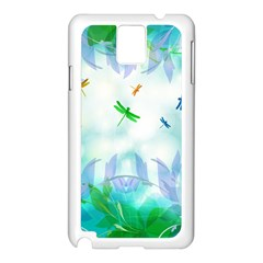 Scrapbooking Tropical Pattern Samsung Galaxy Note 3 N9005 Case (White)
