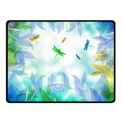 Scrapbooking Tropical Pattern Double Sided Fleece Blanket (Small)