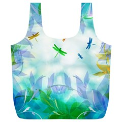 Scrapbooking Tropical Pattern Full Print Recycle Bag (XL)