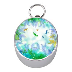 Scrapbooking Tropical Pattern Mini Silver Compasses