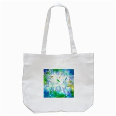 Scrapbooking Tropical Pattern Tote Bag (White)
