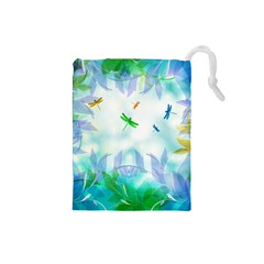 Scrapbooking Tropical Pattern Drawstring Pouch (Small)