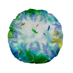 Scrapbooking Tropical Pattern Standard 15  Premium Flano Round Cushions