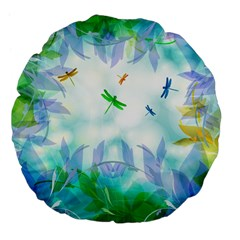 Scrapbooking Tropical Pattern Large 18  Premium Flano Round Cushions