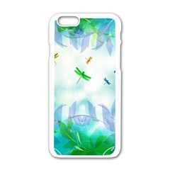Scrapbooking Tropical Pattern iPhone 6/6S White Enamel Case
