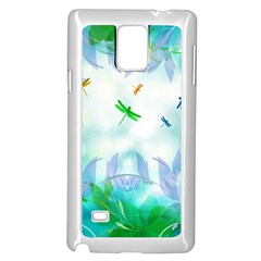 Scrapbooking Tropical Pattern Samsung Galaxy Note 4 Case (White)