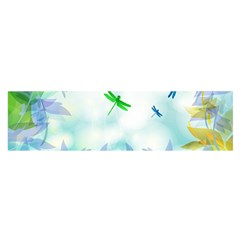 Scrapbooking Tropical Pattern Satin Scarf (Oblong)