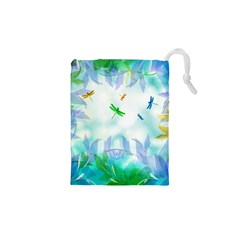 Scrapbooking Tropical Pattern Drawstring Pouch (XS)