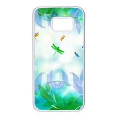 Scrapbooking Tropical Pattern Samsung Galaxy S7 White Seamless Case