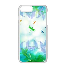 Scrapbooking Tropical Pattern iPhone 7 Plus Seamless Case (White)