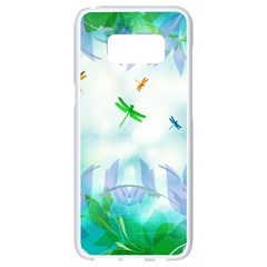 Scrapbooking Tropical Pattern Samsung Galaxy S8 White Seamless Case