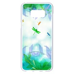 Scrapbooking Tropical Pattern Samsung Galaxy S8 Plus White Seamless Case
