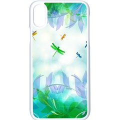 Scrapbooking Tropical Pattern iPhone X Seamless Case (White)