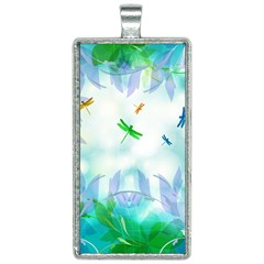 Scrapbooking Tropical Pattern Rectangle Necklace