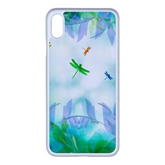 Scrapbooking Tropical Pattern iPhone XS Max Seamless Case (White)