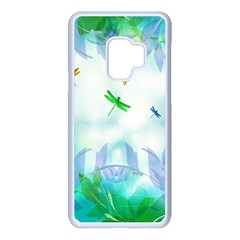 Scrapbooking Tropical Pattern Samsung Galaxy S9 Seamless Case(White)