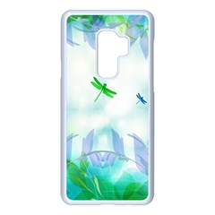 Scrapbooking Tropical Pattern Samsung Galaxy S9 Plus Seamless Case(White)