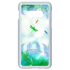 Scrapbooking Tropical Pattern Samsung Galaxy S10e Seamless Case (White)