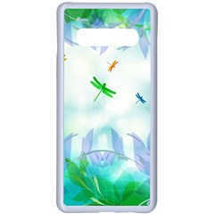 Scrapbooking Tropical Pattern Samsung Galaxy S10 Plus Seamless Case(White)