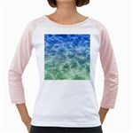 Water Blue Transparent Crystal Girly Raglan Front
