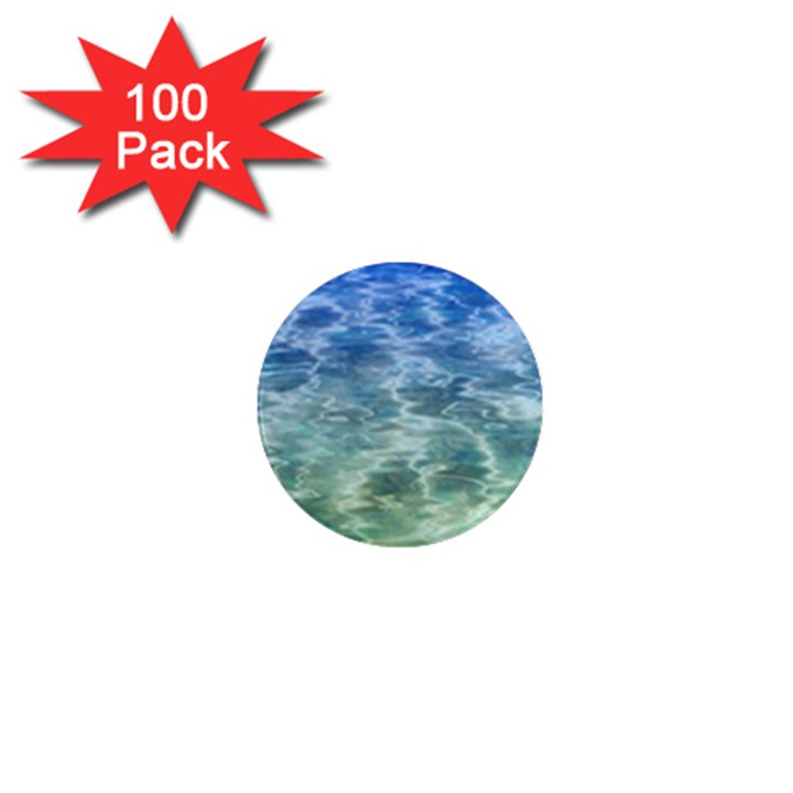 Water Blue Transparent Crystal 1  Mini Magnets (100 pack)