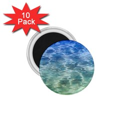 Water Blue Transparent Crystal 1 75  Magnets (10 Pack)  by HermanTelo