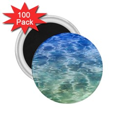 Water Blue Transparent Crystal 2 25  Magnets (100 Pack)