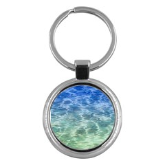 Water Blue Transparent Crystal Key Chain (round) by HermanTelo