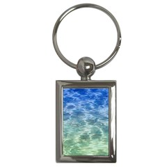 Water Blue Transparent Crystal Key Chain (rectangle)