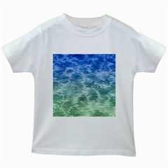 Water Blue Transparent Crystal Kids White T Shirts by HermanTelo