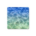 Water Blue Transparent Crystal Square Magnet Front