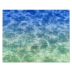 Water Blue Transparent Crystal Rectangular Jigsaw Puzzl by HermanTelo