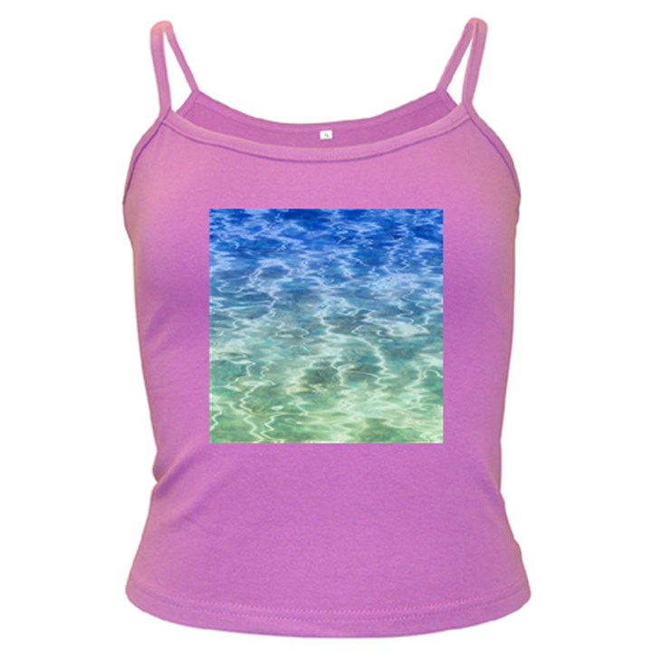 Water Blue Transparent Crystal Dark Spaghetti Tank