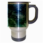 Water Blue Transparent Crystal Travel Mug (Silver Gray) Right