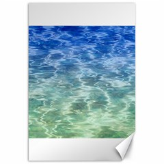 Water Blue Transparent Crystal Canvas 20  X 30  by HermanTelo