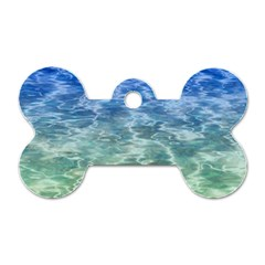 Water Blue Transparent Crystal Dog Tag Bone (two Sides) by HermanTelo