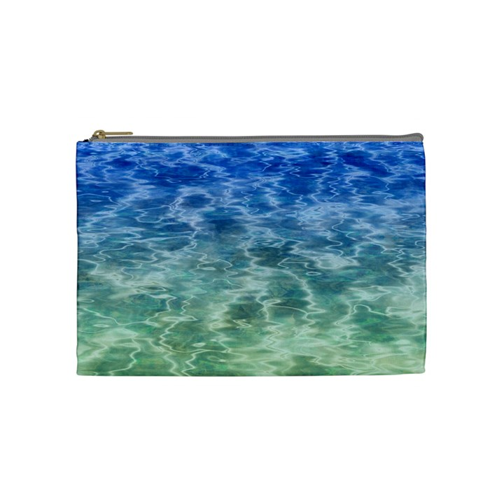 Water Blue Transparent Crystal Cosmetic Bag (Medium)