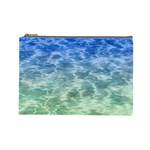 Water Blue Transparent Crystal Cosmetic Bag (Large) Front
