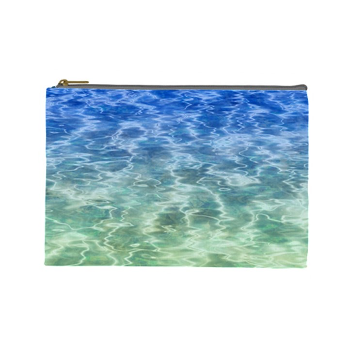 Water Blue Transparent Crystal Cosmetic Bag (Large)
