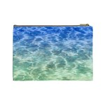 Water Blue Transparent Crystal Cosmetic Bag (Large) Back