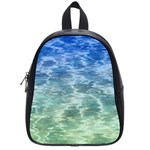 Water Blue Transparent Crystal School Bag (Small) Front
