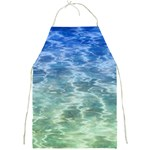 Water Blue Transparent Crystal Full Print Apron Front