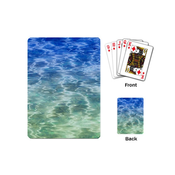 Water Blue Transparent Crystal Playing Cards Single Design (Mini)