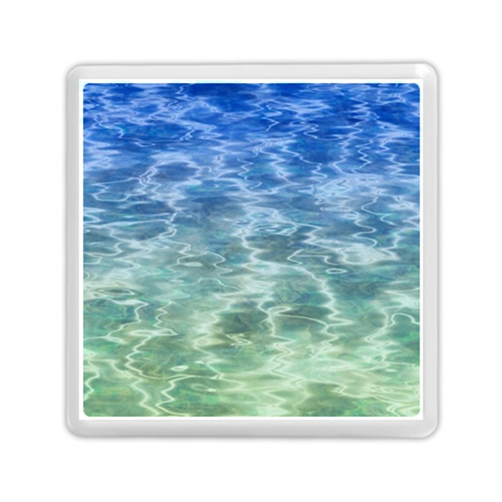 Water Blue Transparent Crystal Memory Card Reader (Square)