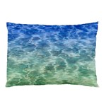 Water Blue Transparent Crystal Pillow Case (Two Sides) Front