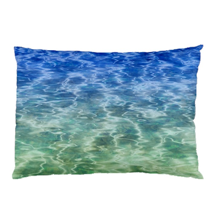 Water Blue Transparent Crystal Pillow Case (Two Sides)