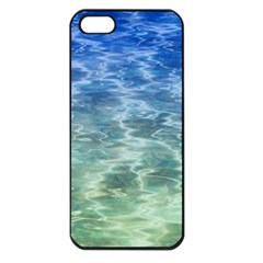Water Blue Transparent Crystal Iphone 5 Seamless Case (black) by HermanTelo
